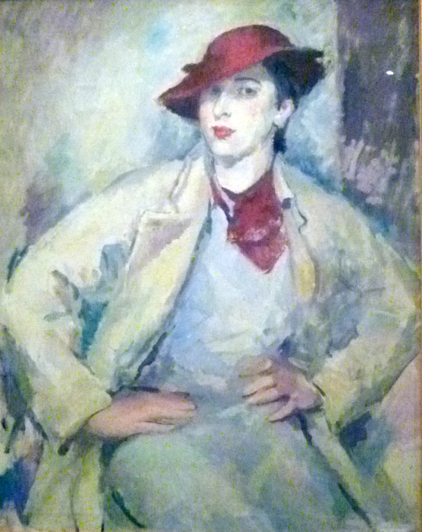 The red hat, William Frater, 1937, oil on canvas