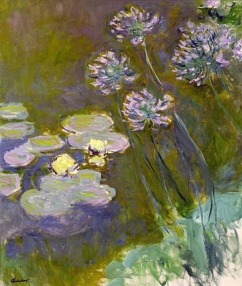 Agapanthus and Waterlilies - Claude Monet