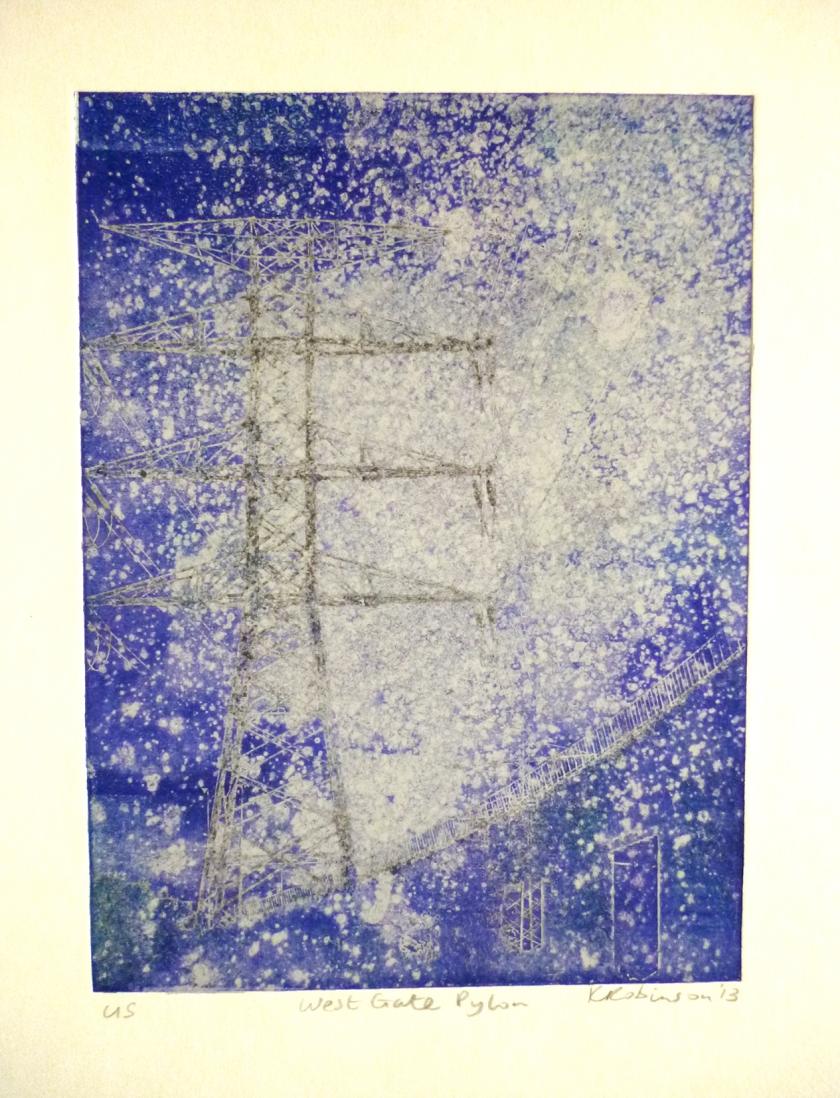 West Gate Pylon, 2013, photopolymer print