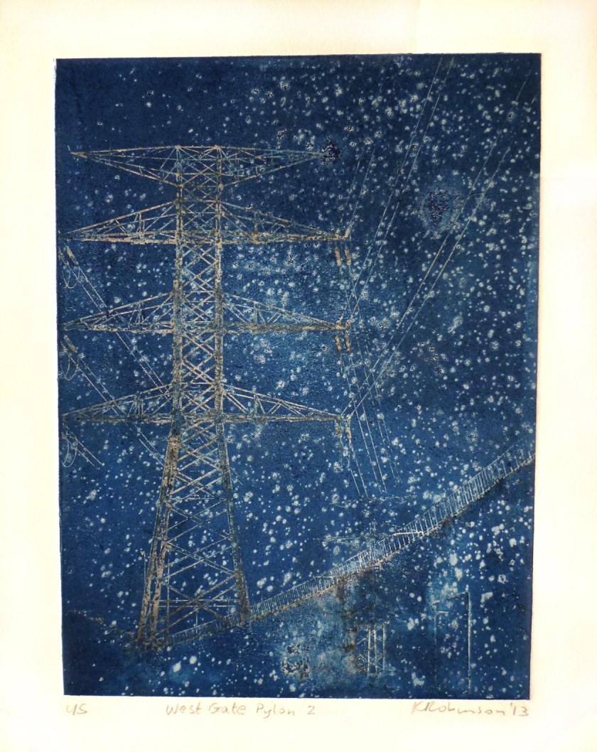 West Gate Pylon 2, 2013, photopolymer print