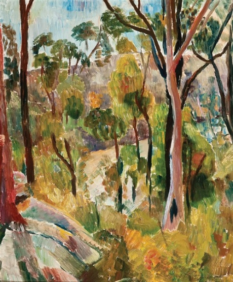 Bush in the National Reserve, oil on board, c1950