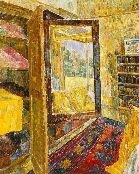 Interior with Wardrobe Mirror, oil, 1955