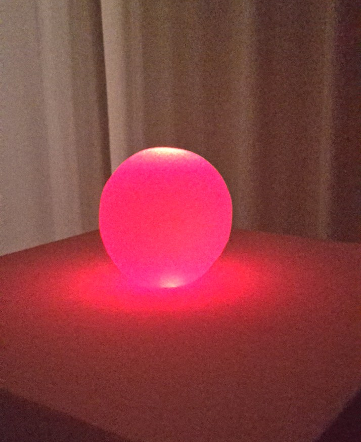 glowing pink sphere